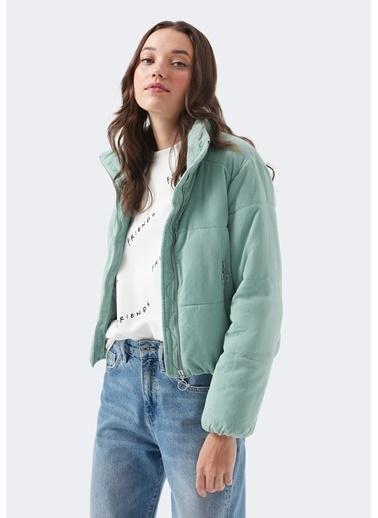 Mavi Kadın  Fitilli Kadife Mont 110314-29211 Yeşil